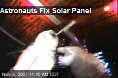 Astronauts Fix Solar Panel