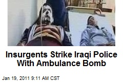 Insurgents Strike Iraqi Police With Ambulance Bomb