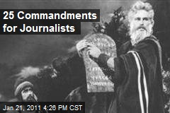 25 Commandments For Journalists