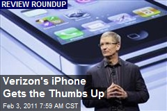 Verizon's iPhone Gets the Thumbs Up