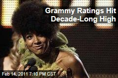Grammy Ratings Hit Decade-Long High