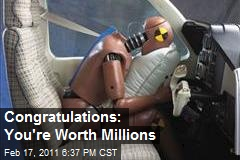 Congratulations: You're Worth Millions