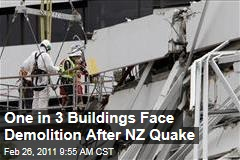 New Zealand Eqarthquake: One in 3 Buildings in Christchurch Face Demolition