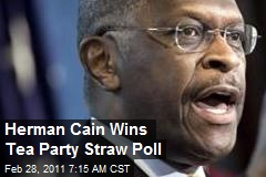 Herman Cain Wins Tea Party 2012 Poll
