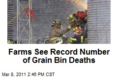 Farms See Record Number of Grain Bin Deaths