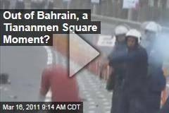 VIDEO: Bahrain Cops Shoot Protester in Tiananmen Square Moment