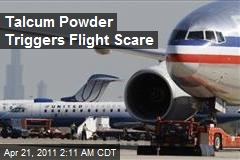 Talcum Powder Triggers Flight Scare