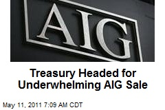 Treasury Headed for Underwhelming AIG Sale