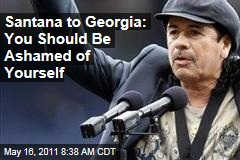 Carlos Santana to Georgia: You Should Be Ashamed of Yourself
