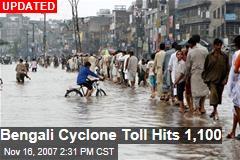 Bengali Cyclone Toll Hits 1,100