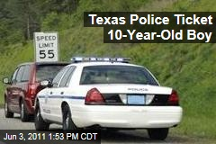 Texas Police Tickets 10-Year-Old Boy for Wearing Seatbelt Incorrectly