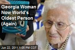 Georgia Woman Now World's Oldest Person (Again)