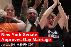 New York State Senate Approves Gay Marriage