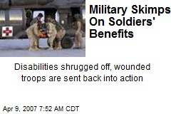 Military Skimps On Soldiers' Benefits