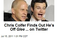 Chris Colfer Finds Out He's Off Glee ... on Twitter