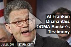 Senator Al Franken Trounces Defense of Marriage Act Backer's Case