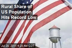 Rural Share of US Population Hits Record Low