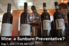 Wine: a Sunburn Preventative?