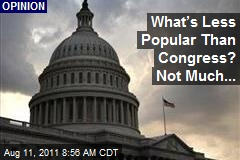 What's Less Popular Than Congress? Not Much...