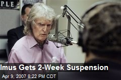 Imus Gets 2-Week Suspension