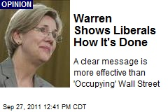 Warren Shows Liberals How It's Done