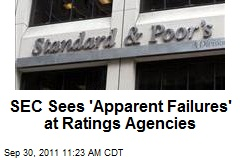 SEC Sees 'Apparent Failures' at Ratings Agencies