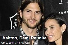 Ashton Kutcher, Demi Moore Reunite at Kaballah Center, Seems 'Tense'