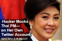 Thailand PM Yingluck Shinawatra's Twitter Account Hacked