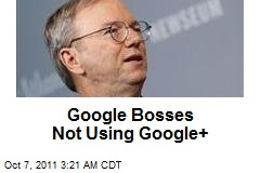 Google Bosses Not Using Google+