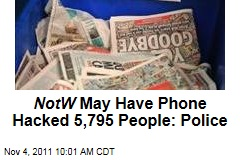News of the World Phone Hacked Almost 5,800 People, Police Say