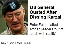 US General Ousted After Dissing Karzai