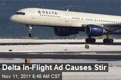 Delta In-Flight Ad Causes Stir