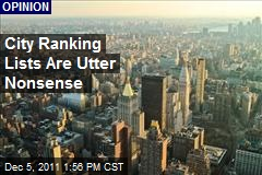 City Ranking Lists Are Utter Nonsense