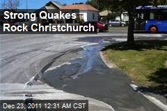 Strong Quakes Rock Christchurch