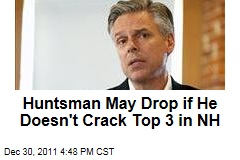 Jon Huntsman May Drop Out if He Doesn't Finish in Top 3 in New Hampshire