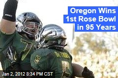 Oregon Ducks Win First Rose Bowl in 95 Years, Beating Wisconsin Badgers 45-38