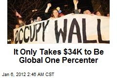 Only Takes $34K to Be Global One Percenter