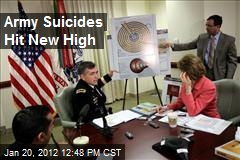 Army Suicides Hit New High