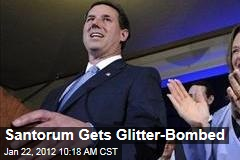 Rick Santorum Gets Glitter-Bombed by Gay-Rights Activists, Occupiers