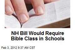 NH Bill Would Require Bible Class in Schools