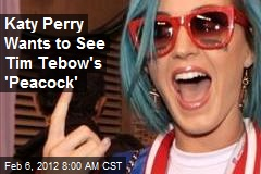 Katy Perry Wants to See Tim Tebow's 'Peacock'