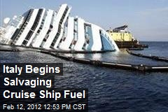 Italy Begins Salvaging Cruise Ship Fuel