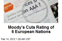 Moody's Cuts Rating of 6 European Nations