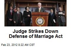 Judge Strikes Down Defense of Marriage Act