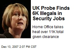 UK Probe Finds 6K Illegals in Security Jobs