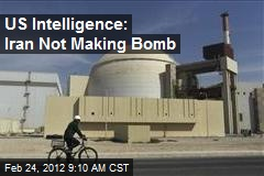 US Intelligence: Iran Not Making Bomb
