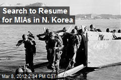 Search to Resume for MIAs in N. Korea