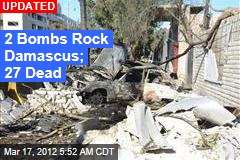 2 Bombs Rock Damascus