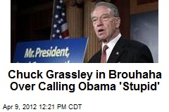 Chuck Grassley in Brouhaha Over Calling Obama 'Stupid'