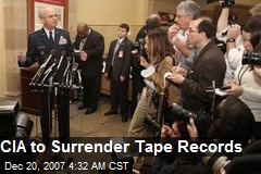 CIA to Surrender Tape Records